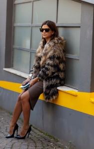 Heels, Fur & Cobble stones
